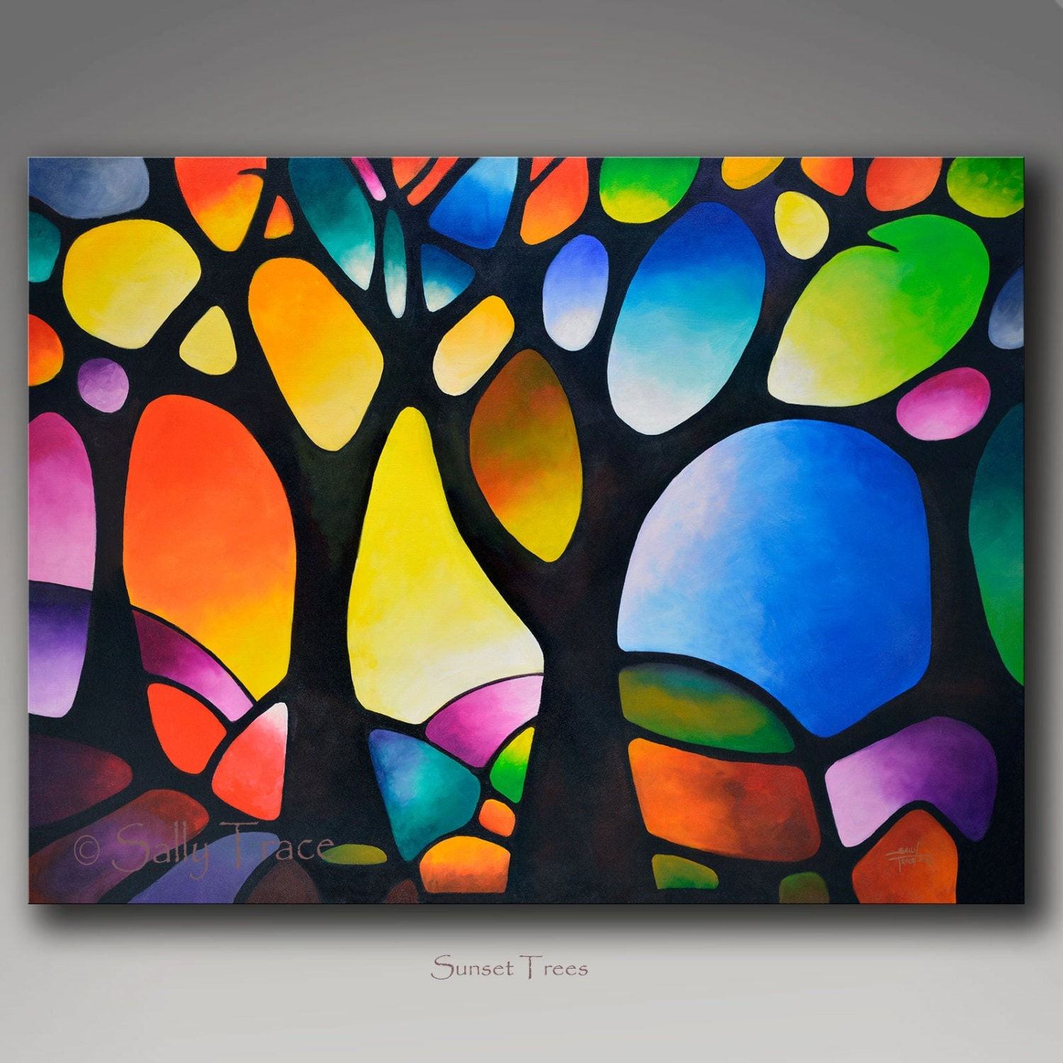 Giclee Print On Canvas From My Abstract Tree Painting