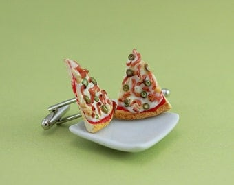 Bacon Pizza Cufflinks