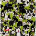 HALF YARD - Animal Party - Dogs Gone Wild! - Lime Green - Pug, French Bulldog, Bow - Cotton Oxford - Japanese Import Fabric