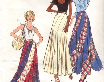 Butterick 3557 BIAS SWIRL Skirt Make it Two-Tone or Tri-Colored