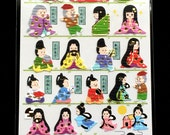 Japanese Stickers - The Tale of the Bamboo Cutter - Princess Kaguya  - Traditional Japanese Stickers - Washi Paper Stickers S225