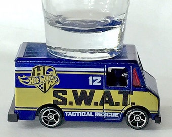 the ORIGINAL Hot Shots Shot Glass, Combat Medic, Swat, Tactical Rescue Truck, Hot Wheel car