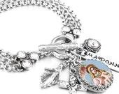 Mary Religious Jewelry, Religious Bracelet, Mary Charm, Catholic Jewelry, Faith Jewelry, Virgin Mary