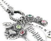 Grandma Necklace - Grandkid's Names - Grandmothers Pendant - Personalized Gift for Grandma - Nana Gift - Mimi Gift