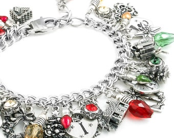 Silver Lights Jewelry - Christmas Tree Lights - Christmas Party Jewelry - Lights Bracelet - Christmas Lights