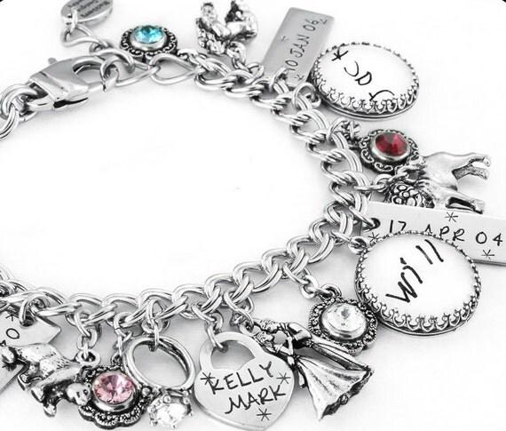 Tennis Charm Bracelet: Personalized Charm Bracelet Tennis Charm Bracelet