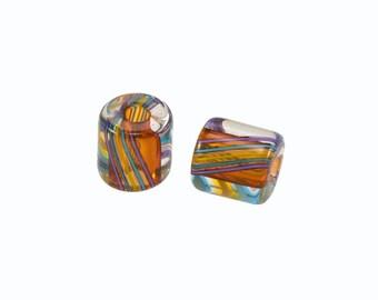 David Christensen Beads Chubs Accented Earth Tone Pair C159