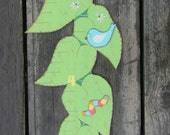 Wood Growth Chart SUNFLOWER - Hand Painted Custom Personalized Keepsake