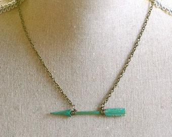 Woodland arrow necklace. Tiedupmemories