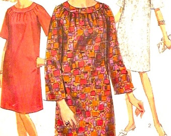 60s Mod dress Maternity Summer casual fashion style vintage sewing pattern Simplicity 6755 bust 31 UNCUT