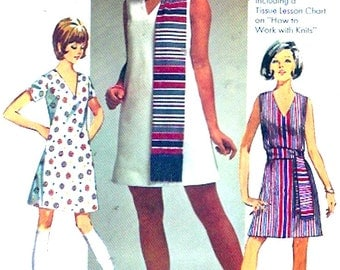 Dress sash Scarf 60s vintage Hipster Mod retro style sewing pattern Simplicity 8613 Size 10
