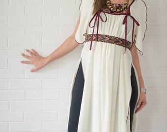 SALE-20% OFF-Vintage Long Open Sided Boho Tunic (Size Medium/Large)