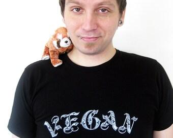 Vegan Shirt, Vegan T shirt - Old English Script Vegan Tee Shirt
