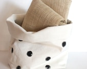 Fabric Storage Bin / Succulent Planter / Polka Dot / Fabric Storage Basket / Nursery Storage / Gift Container / Baby Shower