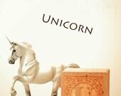 ABC art, unicorn art, letter photo, nursery art, nursery decor, childs room decor, child room art, letter art, alphabet photo, alphabet art