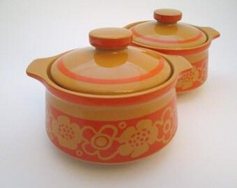 Ceramic Soup Bowls, Vintage Stoneware, soup crock, soup bowl with lid, French onion soup bowl, small crock, pottery, bean pot
