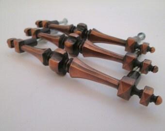 vintage kitchen cabinet pulls drawer pulls copper hardware cupboard handles metal drawer - Copper Kitchen Cabinet Hardware