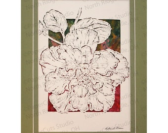 Hibiscus Papercutting- Handcut original