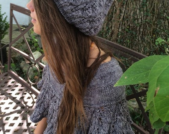 two knitting patterns promotion pdf download Embarrassment of Leaves Capelet and Hat