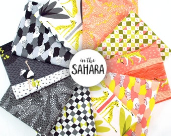 In the Sahara Fat Eighth Bundle - by Katy Tanis for Blend Fabrics  - full collection 10 piece fat eighth bundle