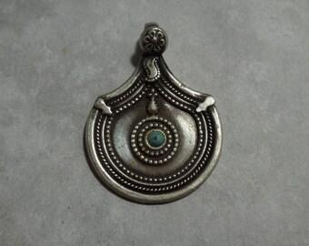Vintage Tibetan Sterling Silver Pendant