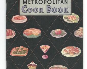 Vintage 50s Cook Booklet Metropolitan 1950s Mid Century 64 pages Fish Soups Cakes Sauces Desserts More