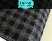 Burly Beavers Fabric, Hipster fabric, Flannel Plaid in Smoke, Plaid fabric, Gray fabric, Robert Kaufman- Choose the cut