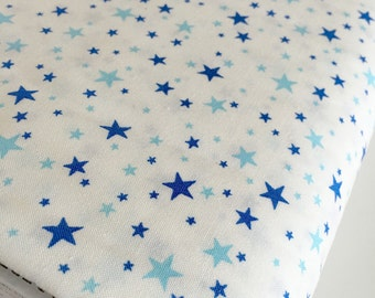 SALE Japanese fabric, Sevenberry fabric, Petite Classics, Tiny Print great for baby or doll clothes, Mini Stars in Sky, Choose your cut