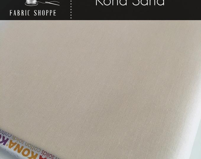 Kona cotton solid quilt fabric, Kona SAND 1323, Ivory fabric, Solid fabric Yardage, Kaufman, Cotton fabric, Choose the cut