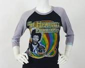 The Jimi Hendrix Experience 1970's RARE Original Vintage Baseball T Band Shirt