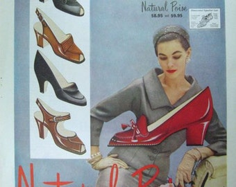 Natural Poise Shoes Ad Vintage Advertising Wall Art Decor E127