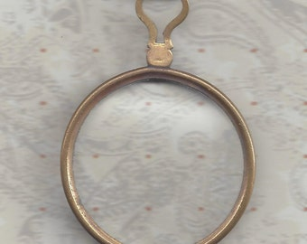 Brass or Gold Colored Monocle Antique Trial Optical Lens
