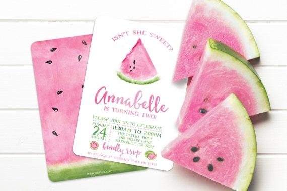 Watermelon Invitation Watermelon Party Invitation Watermelon