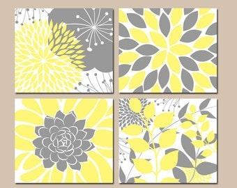 Yellow And Gray Wall Art yellow gray wall art | etsy