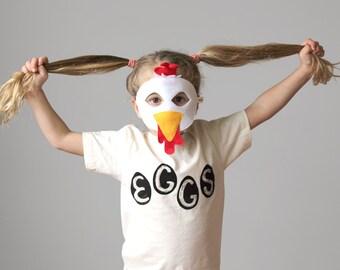 Kids Organic Natural Egg T Shirt, Easter Eggs, Easter basket, funny t-shirt, backyard chickens, gift for kids, chicken eggs, organic cotton