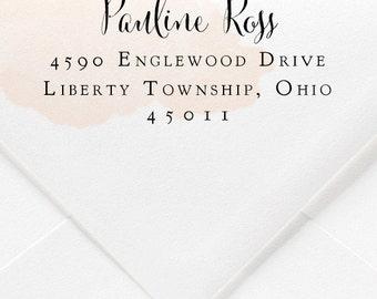Cursive Return Address Rubber Stamp
