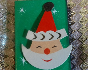 Vintage Santa Christmas Matches, Unused, Kris Kringle, Santa Claus, Fireplace Matches, 1967