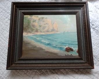 Nautical oil painting, GIUSEPPE SALVATI, aka., CAYATI Plein Air Impressionist, Italian artist Seascape, Sea Light, Gay, and Sunny