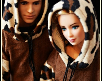 Matching Hoodie Set for Ken and Barbie