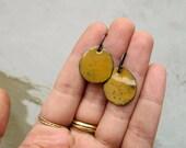 Earring 256,257 /365 -Single earring sterling silver and enamel on copper - EAD2015