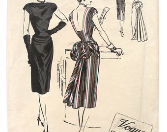 1940's  Vogue Couturier Dress with Bustle Bust 30 Number 273