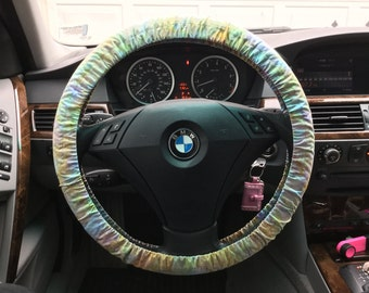 Island Batik Watercolor Steering Wheel Cover