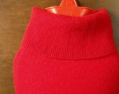 Cashmere Hot Water Bottle Cover. Gift for Women. Red Cashmere Hot Water Bottle Cozy. 100% Cashmere Cover for Hot Water Bag. Gifts under 50