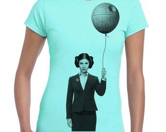 Happy Birthday Princess Leia - women's graphic tshirt, star wars funny shirt, print t-shirt, gift for her, geek top, women tee, junior tee