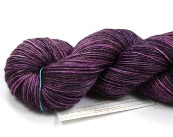 Punkish--hand dyed sock weight yarn, MCN (435yds/100gm)