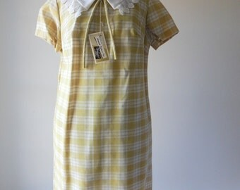 Skippy plaid dress | vintage 1950s dress |  plaid 50s dress