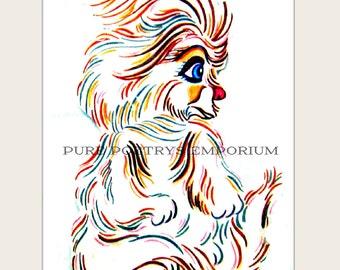 Cute Furry Creature Enhanced Art Photography Digital Image Download