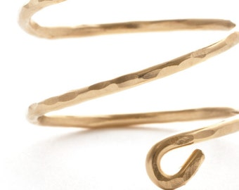 Gold Fill Wire Wrapped Winding Snake Ring