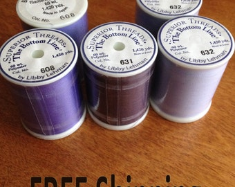 Purple Bottom Line Bobbin Thread  by Superior Threads - FREE Shipping