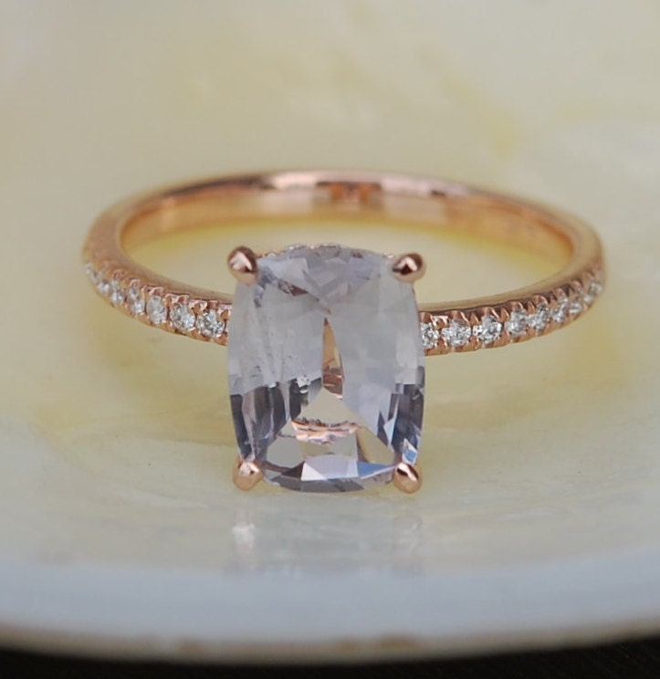 Blake Lively ring White Sapphire Engagement Ring cushion cut